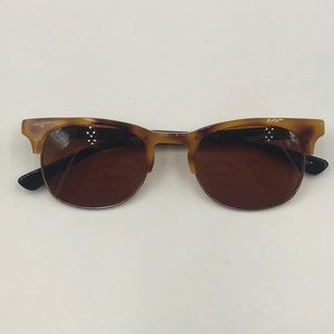 Other - Dennis Tortoise Silver Clubmaster Sunglasses
